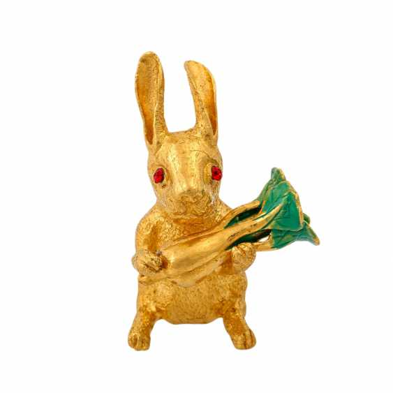Decorative bunny made of fine gold, - photo 1