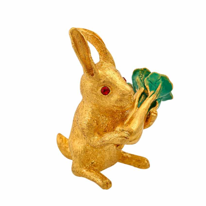 Decorative bunny made of fine gold, - photo 2
