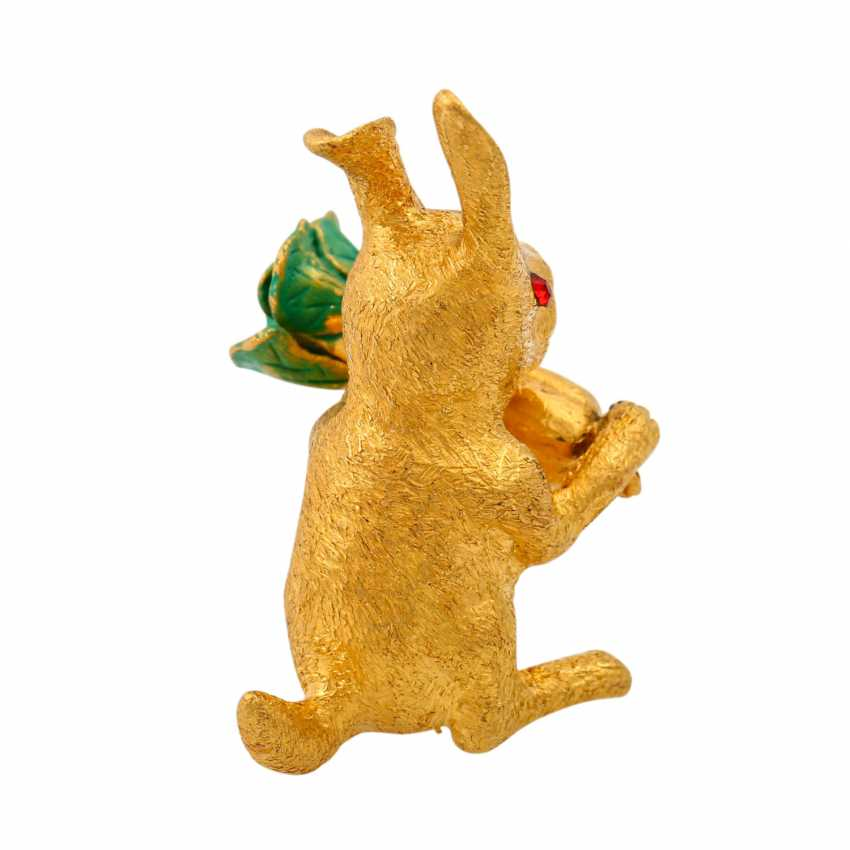 Decorative bunny made of fine gold, - photo 3