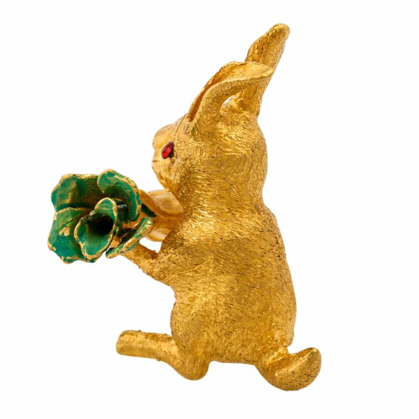 Decorative bunny made of fine gold, - photo 4