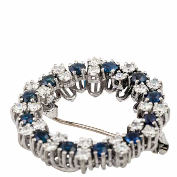 Wreath brooch with sapphires and diamonds - photo 5