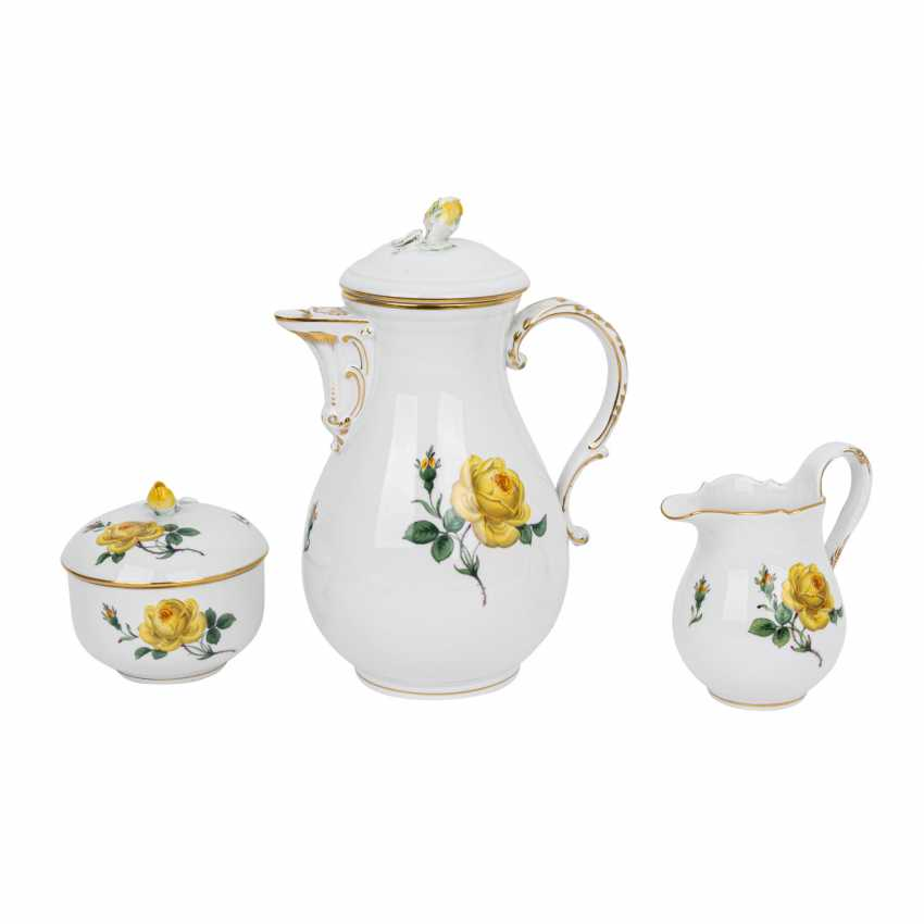 MEISSEN coffee service for 6 people, 'Yellow Rose', 2nd choice, 20th century. - photo 2
