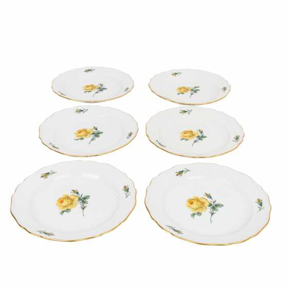 MEISSEN coffee service for 6 people, 'Yellow Rose', 2nd choice, 20th century. - photo 3