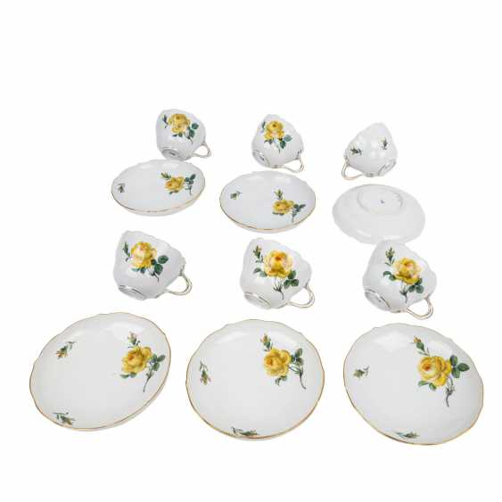 MEISSEN coffee service for 6 people, 'Yellow Rose', 2nd choice, 20th century. - photo 4