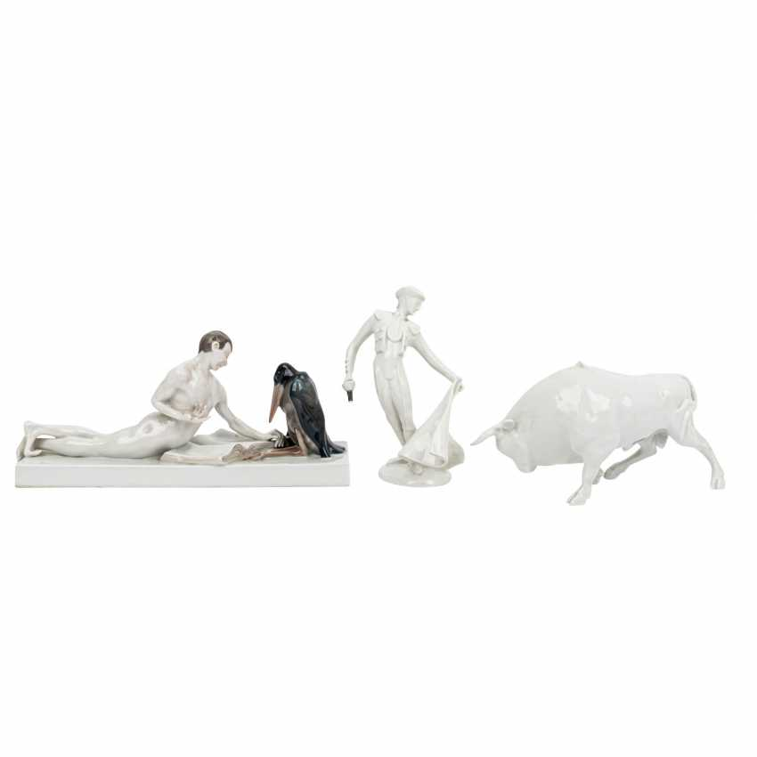 ROSENTHAL 3 figures, 20th century: - photo 1