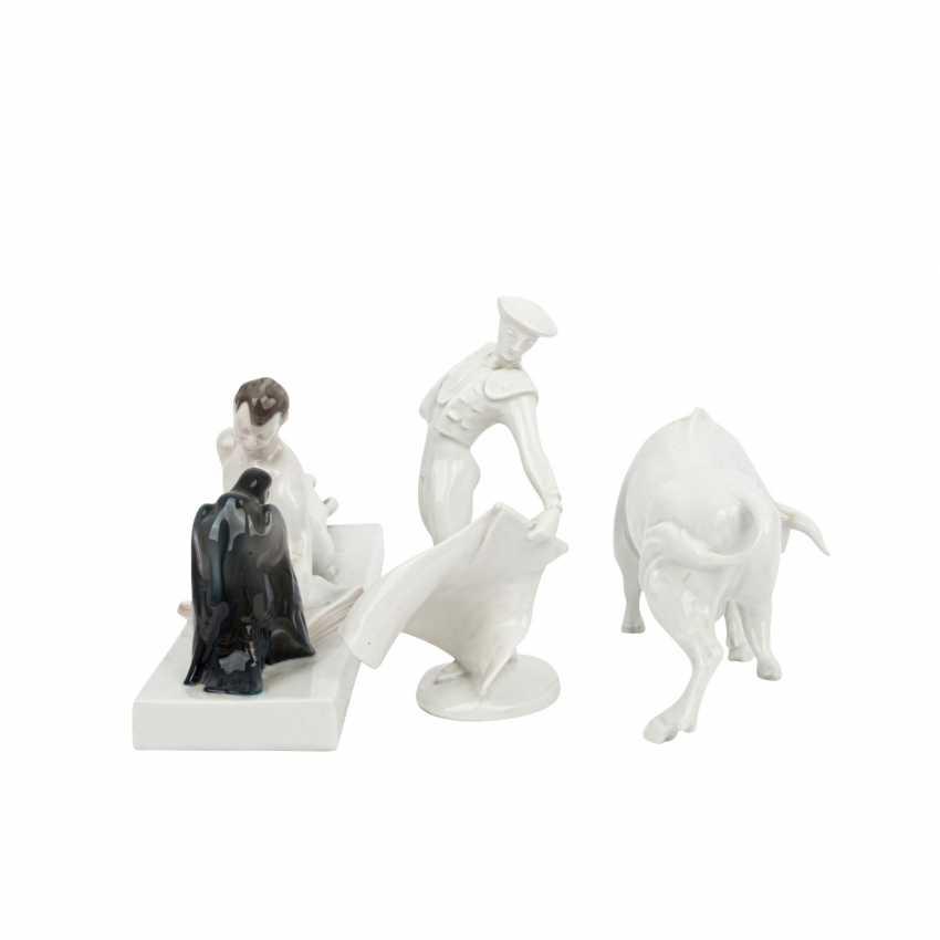 ROSENTHAL 3 figures, 20th century: - photo 2