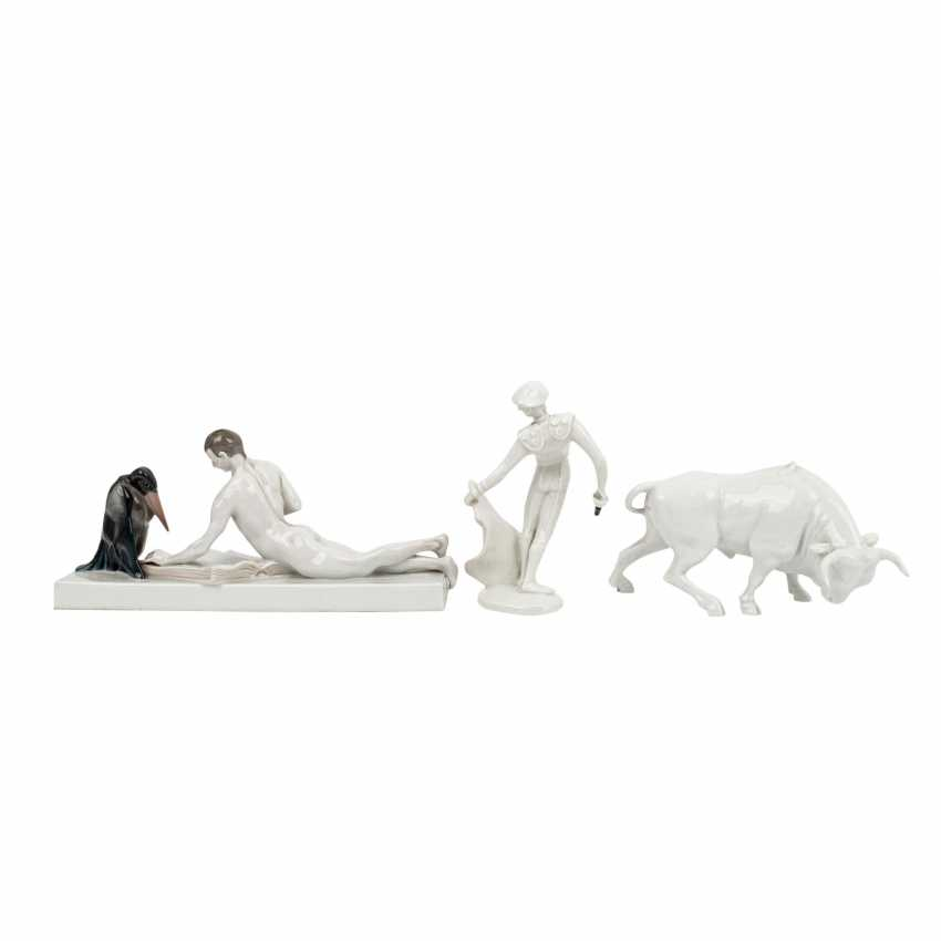 ROSENTHAL 3 figures, 20th century: - photo 3