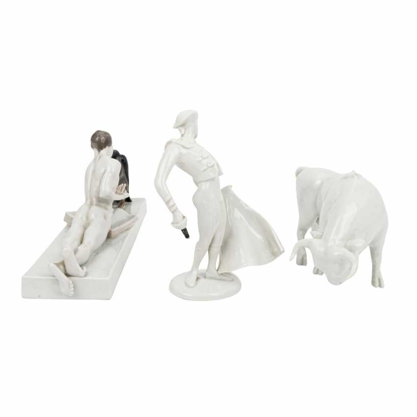 ROSENTHAL 3 figures, 20th century: - photo 4