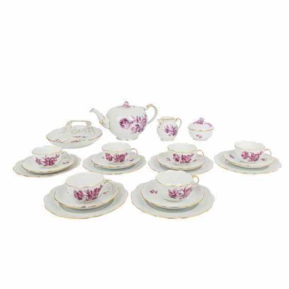 "LUDWIGSBURG tea service for 6 people ""purple flower"" 20th century - photo 1"