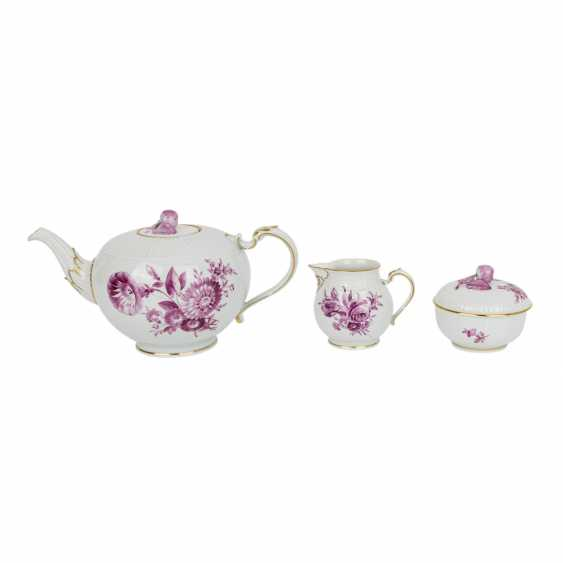 "LUDWIGSBURG tea service for 6 people ""purple flower"" 20th century - photo 2"