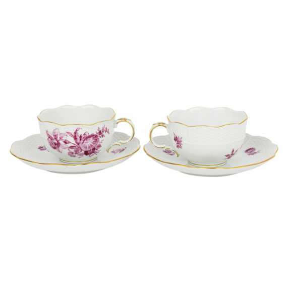 "LUDWIGSBURG tea service for 6 people ""purple flower"" 20th century - photo 3"