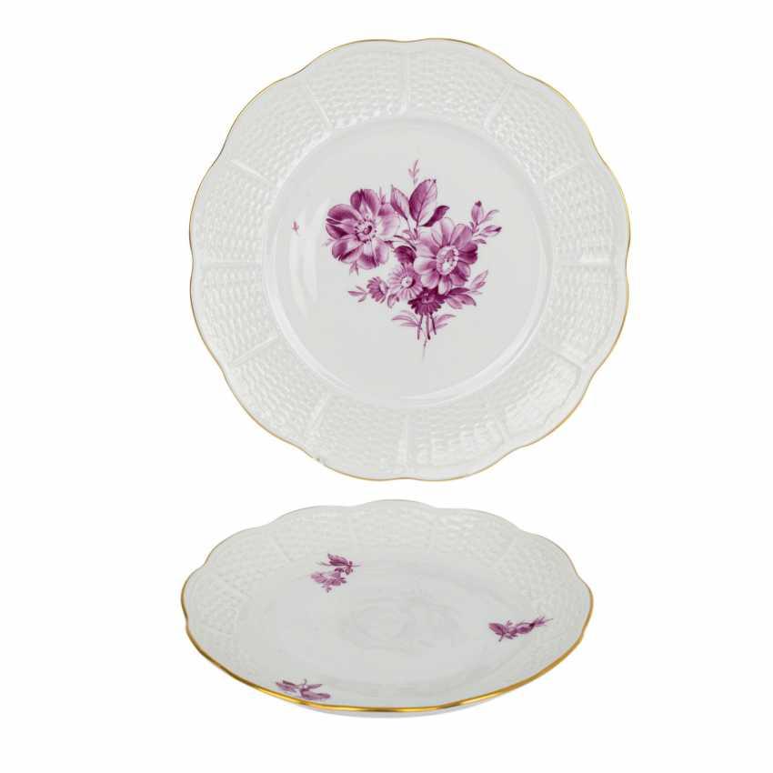 "LUDWIGSBURG tea service for 6 people ""purple flower"" 20th century - photo 4"