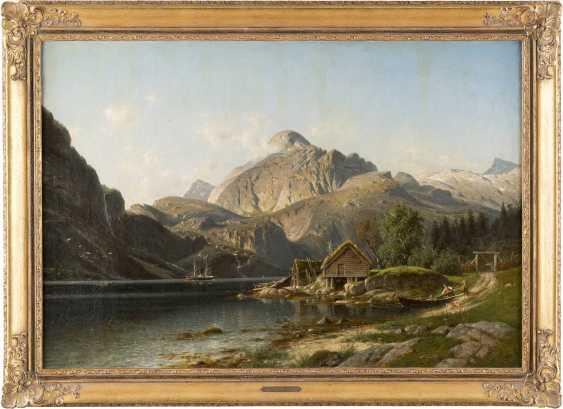 JOHANNES BARTHOLOMÄUS DUNTZE 1823-1895 NORWEGISCHER FJORD (DALSFJORD) MIT STAFFAGE - photo 2