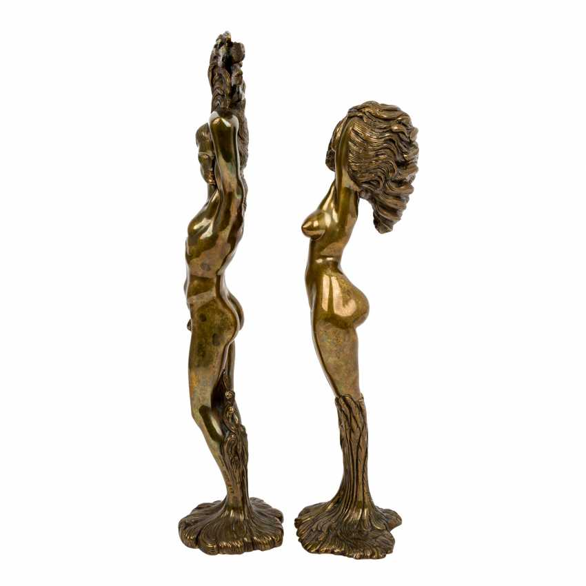 "FUCHS, ERNST (1930-2015) pair of sculptures ""Daphne"" and ""Apoll"" - photo 2"