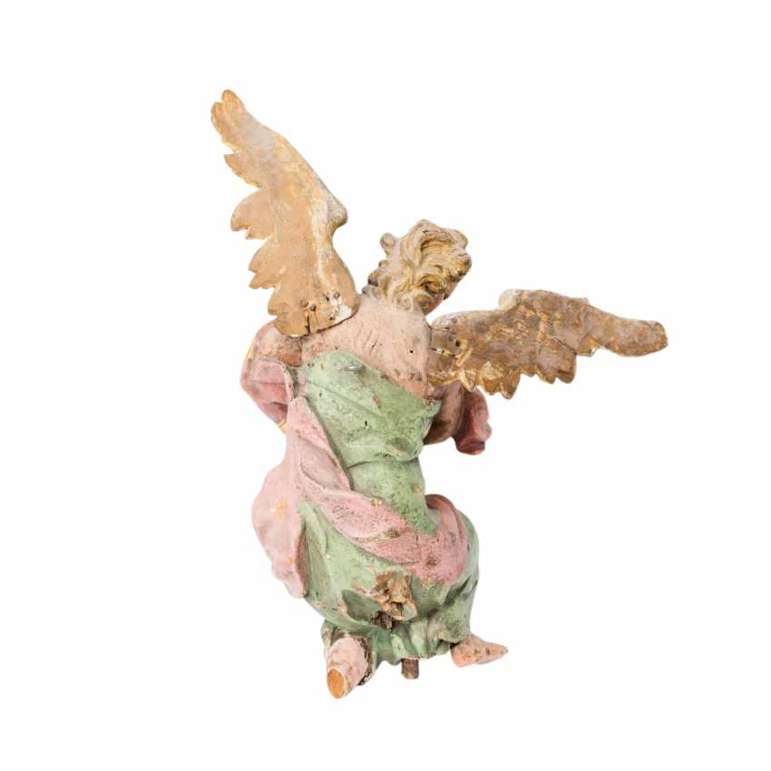 PAIR OF WINGED ALTAR ANGELS - photo 2