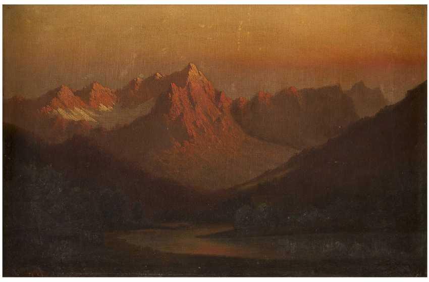 ALFRED DE BREANSKY (ATTR.) 1852 (Großbritannien) - 1928 Sonnenuntergang im schottischen Hochland - фото 1