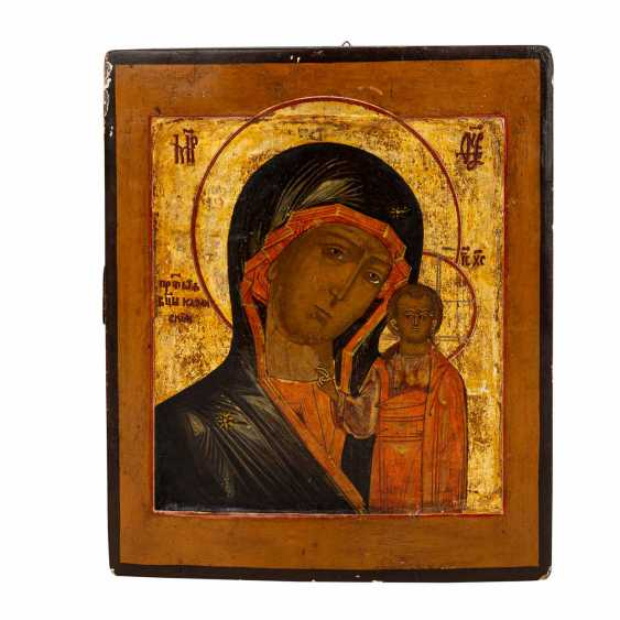 """ICON """"Our Lady of Kazan"""", Russia probably 17th century, - photo 1"""
