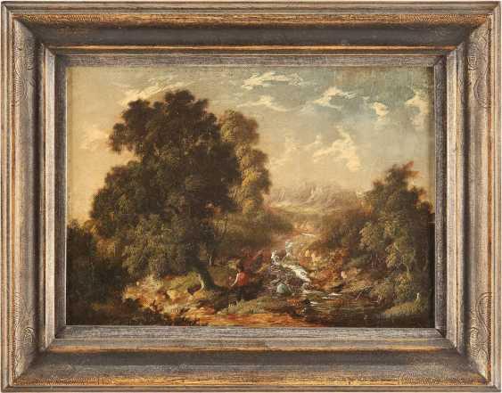 ROBERT WOODLEY-BROWN (ATTR.) Tätig im 19. Jh (Großbritannien) Gemäldepaar. Waldstück mit Bachlauf (1) und bewaldetes Cottage (2) mit Figurenstaffage - photo 4