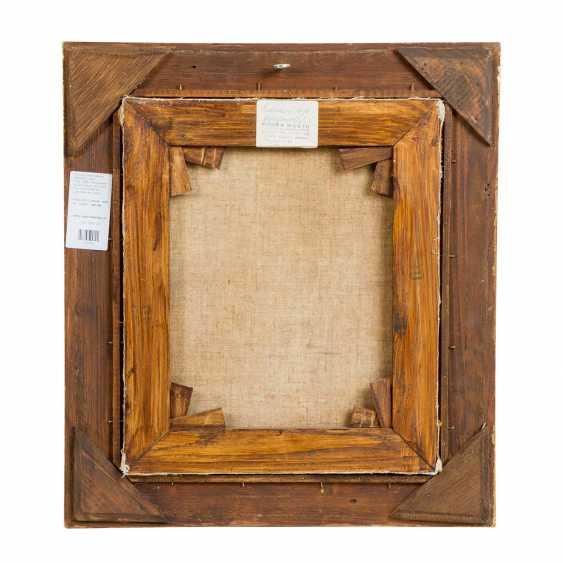 "PFLUG, Johann Baptist, UMKREIS (JBP: 1785-1865), ""Card player in front of the house"", - photo 3"