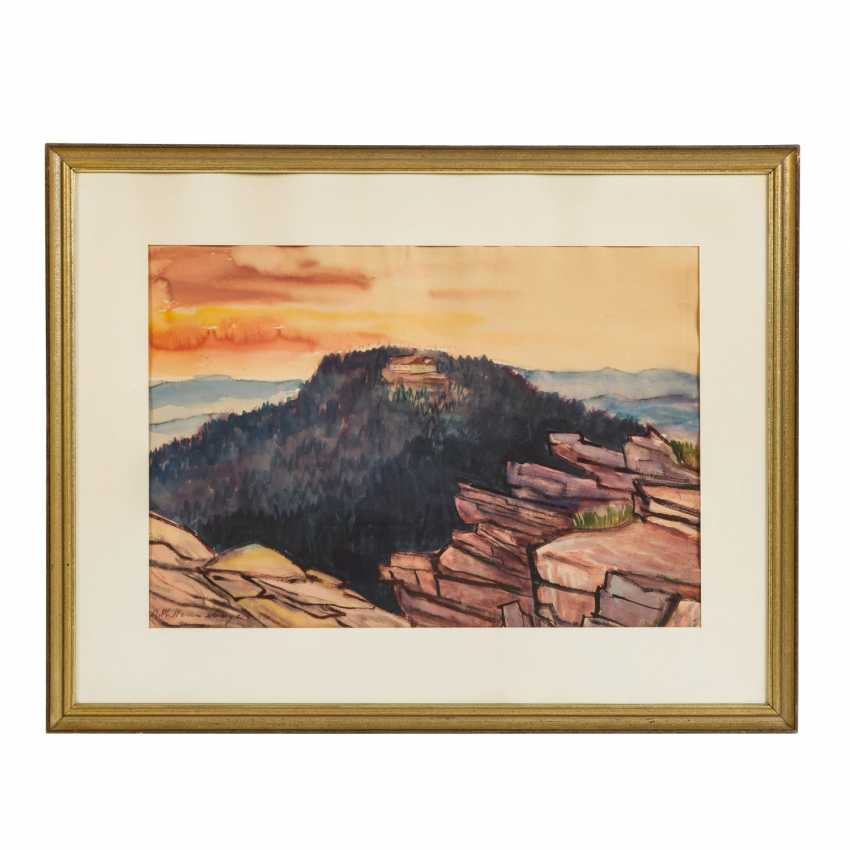 """HENNEBERGER, AUGUST PHILIPP (1902-1980), """"Castle in the Mountains"""", - photo 2"""