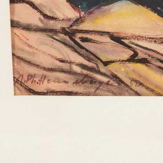 """HENNEBERGER, AUGUST PHILIPP (1902-1980), """"Castle in the Mountains"""", - photo 3"""