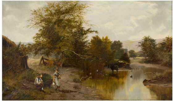 E. WILKINSON Tätig um 1870 Britische Flusslandschaft - photo 1