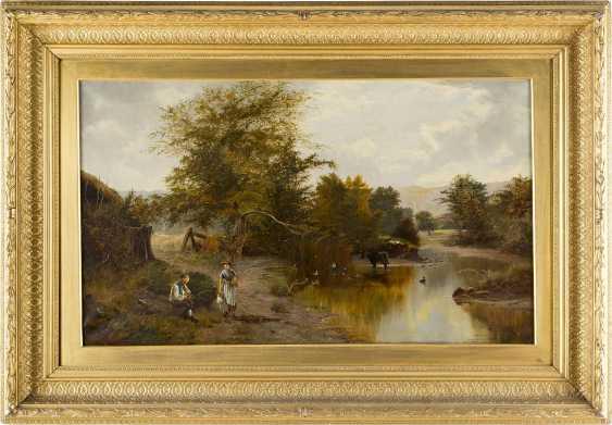 E. WILKINSON Tätig um 1870 Britische Flusslandschaft - photo 2