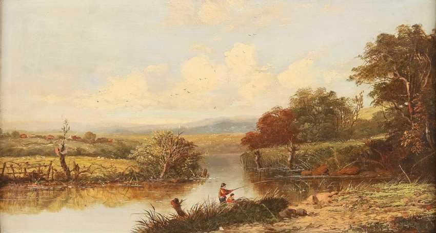 ALFRED H. VICKERS (ATTR.) 1853 - 1907 (tätig in Großbritannien) Zwei Angler am Fluss - photo 1