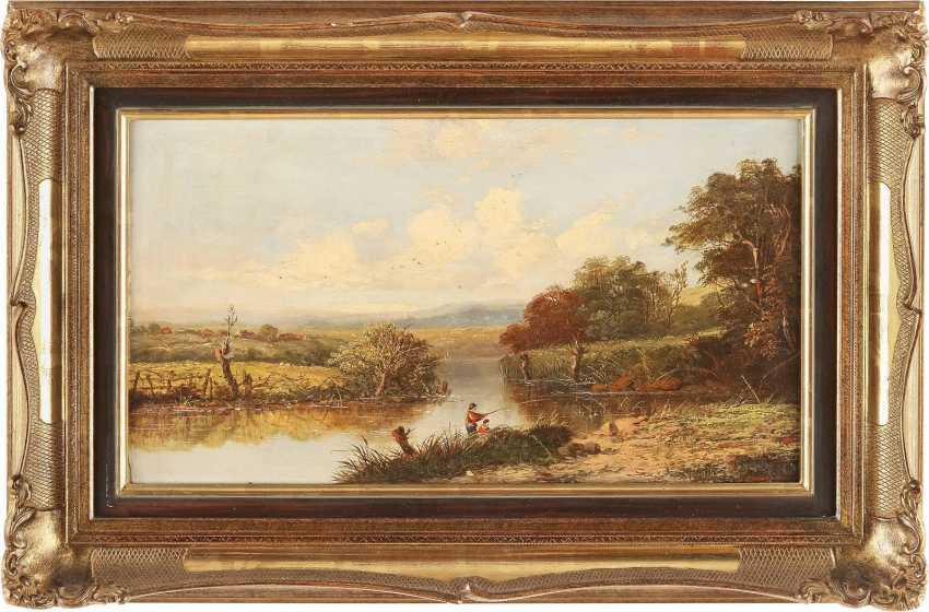 ALFRED H. VICKERS (ATTR.) 1853 - 1907 (tätig in Großbritannien) Zwei Angler am Fluss - photo 2