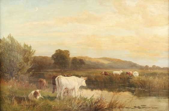 THOMAS SIDNEY COOPER (ATTR.) 1803 Canterbury - 1902 Harbledown Kühe am Fluss - photo 1