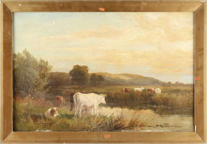 THOMAS SIDNEY COOPER (ATTR.) 1803 Canterbury - 1902 Harbledown Kühe am Fluss - photo 2