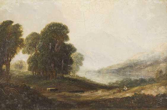 BRITISCHER LANDSCHAFTSMALER Tätig Mitte 19. Jahrhundert Sommerliches Hochland - photo 1