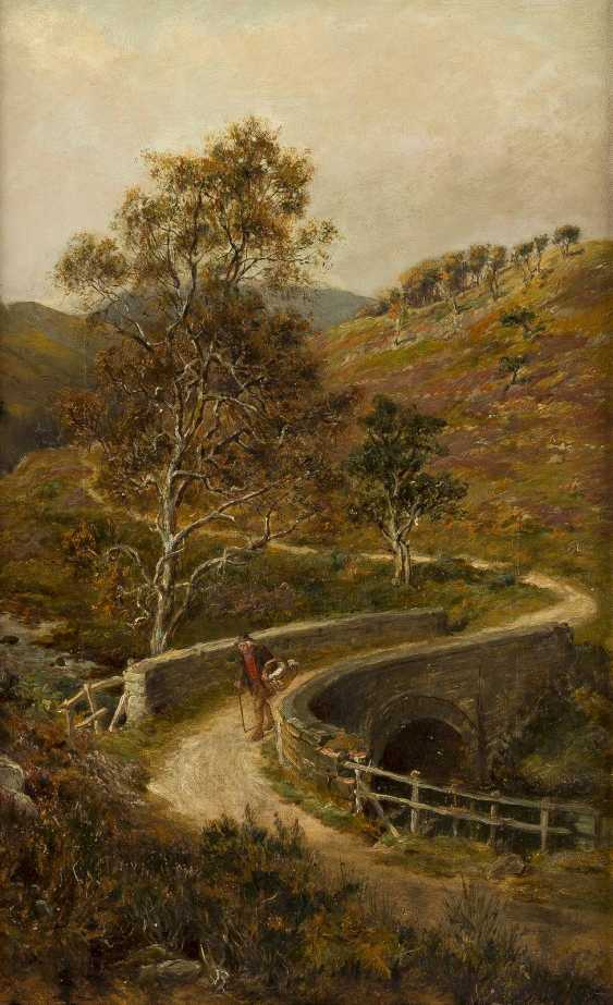RALPH HEDLEY 1851 - 1913 Wanderer in den Yorkshire-Dales - photo 1
