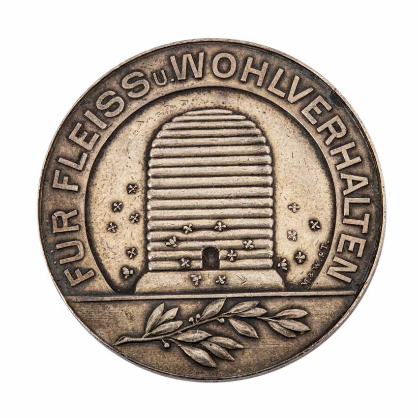 Silver hard work medal, southern Germany, early 20th century. - - photo 2
