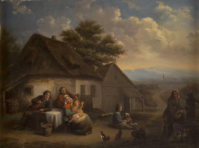 ENGLISCHER MEISTER Tätig im 19. Jahrhundert Vergnügen auf dem Land - photo 1