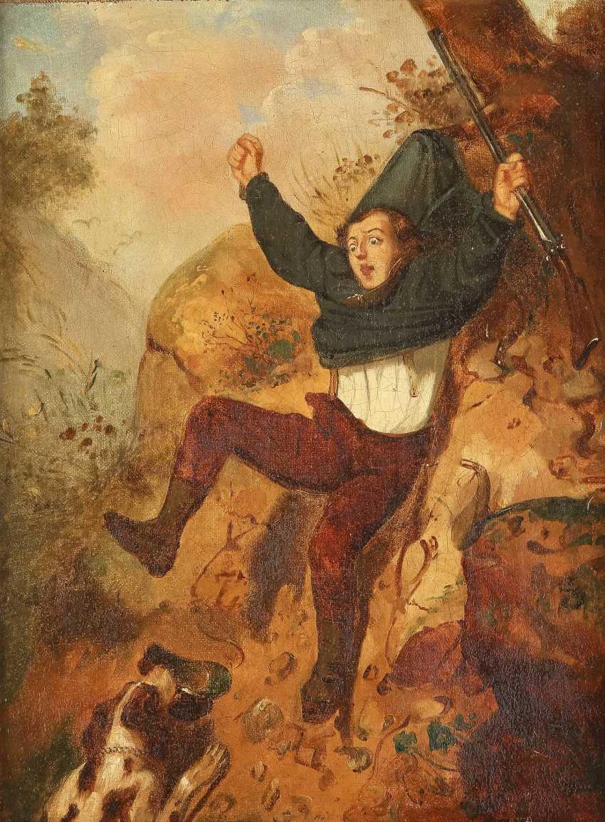 BRITISCHER GENREMALER Tätig 2. Hälfte 19. Jahrhundert Jagdunglück - photo 1
