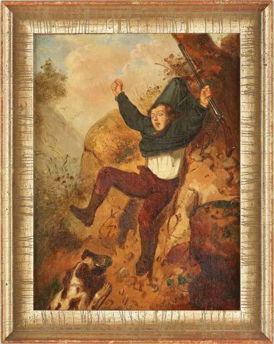 BRITISCHER GENREMALER Tätig 2. Hälfte 19. Jahrhundert Jagdunglück - photo 2
