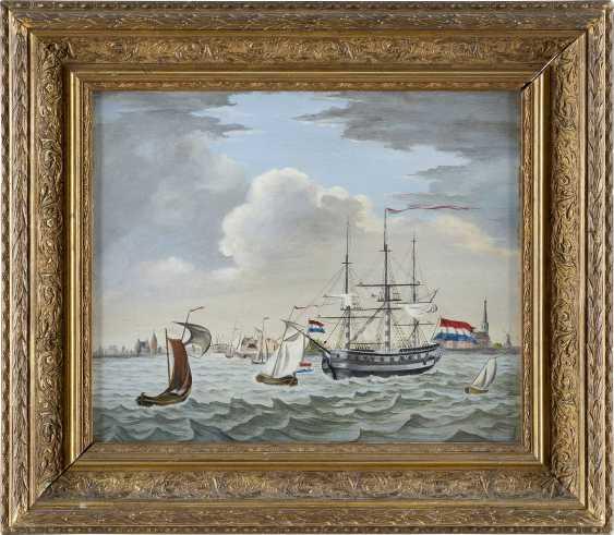 NIEDERLÄNDISCHER MARINEMALER Tätig um 1900 Dreimaster der niederländischen Flotte - photo 2