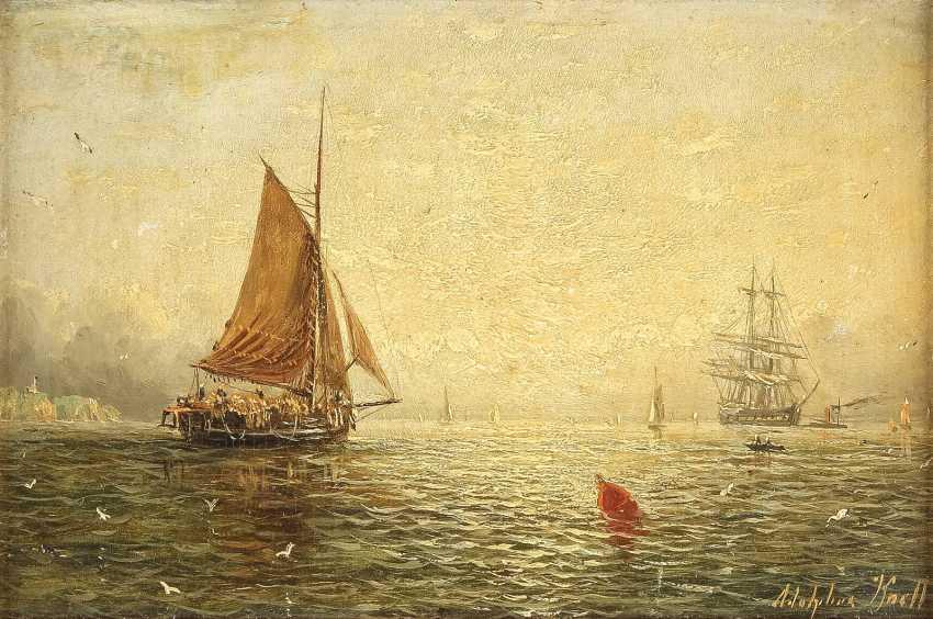 WILLIAM ADOLPHUS KNELL um 1805 - 1875 London Schiffe auf See - photo 1