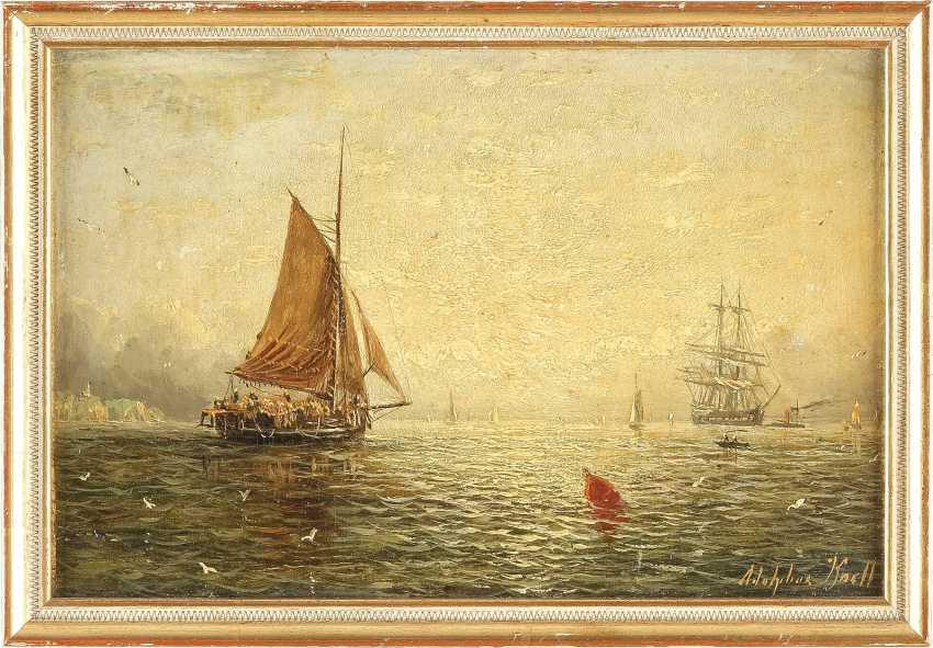 WILLIAM ADOLPHUS KNELL um 1805 - 1875 London Schiffe auf See - photo 2