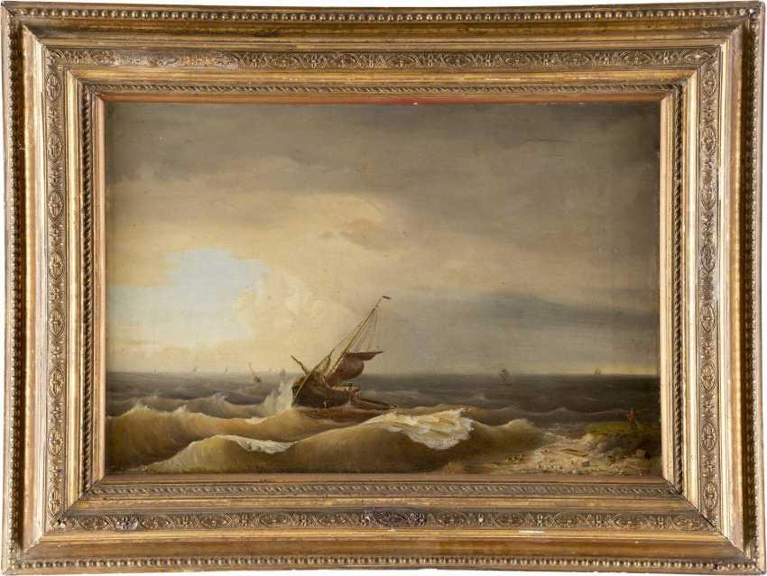 C. L. SCHMITZ Tätig um 1850 Stürmische See - photo 2