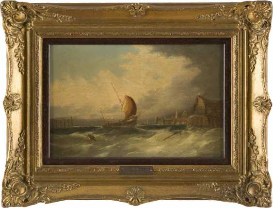 WILLIAM HENRY WILLIAMSON (ATTR.) 1820 Großbritannien - 1883 Ein Segelschiff vor dem Anleger - photo 1