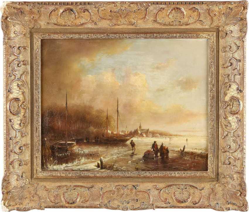 ANDREAS SCHELFHOUT (ATTR.) 1787 Den Haag - 1870 ebenda Eisvergnügen auf zugefrorenem See - photo 2