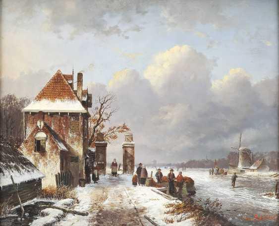 CHARLES HENRI JOSEPH LEICKERT (UMKREIS) 1816 Brüssel - 1907 Mainz Geschäftiger Wintertag - photo 1
