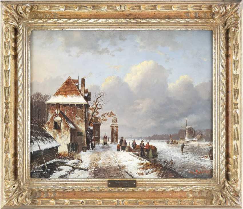 CHARLES HENRI JOSEPH LEICKERT (UMKREIS) 1816 Brüssel - 1907 Mainz Geschäftiger Wintertag - photo 2