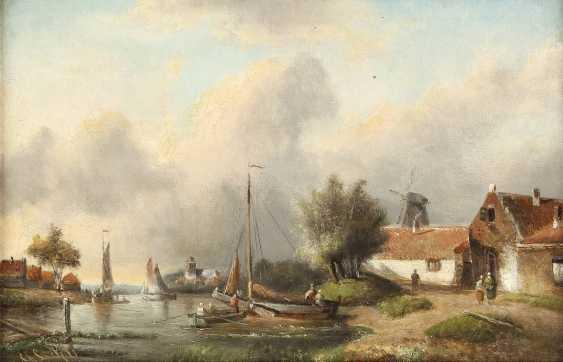 CHARLES LEICKERT (ATTR.) 1816 Brüssel - 1907 Mainz Niederländisches Dorf im Sommer - photo 1