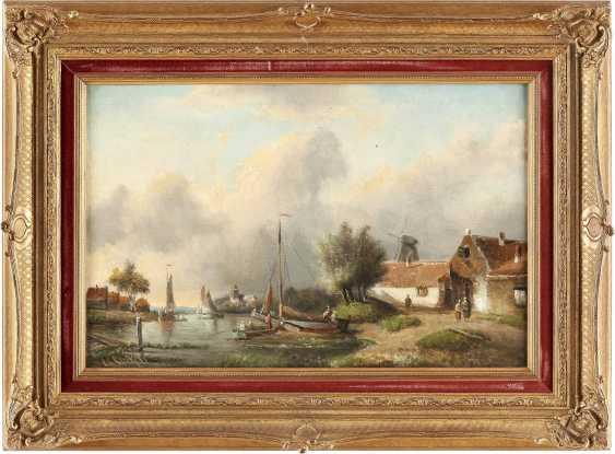 CHARLES LEICKERT (ATTR.) 1816 Brüssel - 1907 Mainz Niederländisches Dorf im Sommer - photo 2