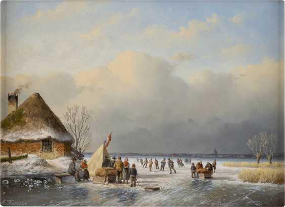 TON KARSSEN 1945 Eisvergnügen auf gefrorenem See - photo 1