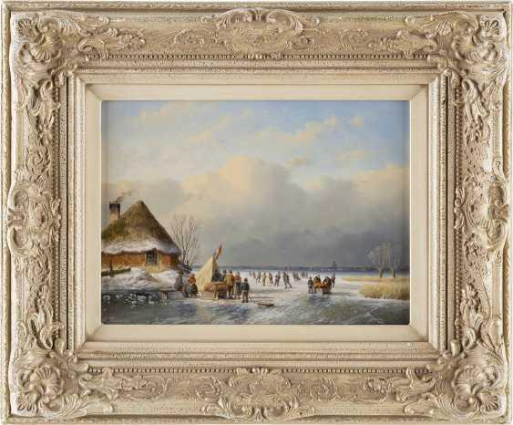 TON KARSSEN 1945 Eisvergnügen auf gefrorenem See - photo 2