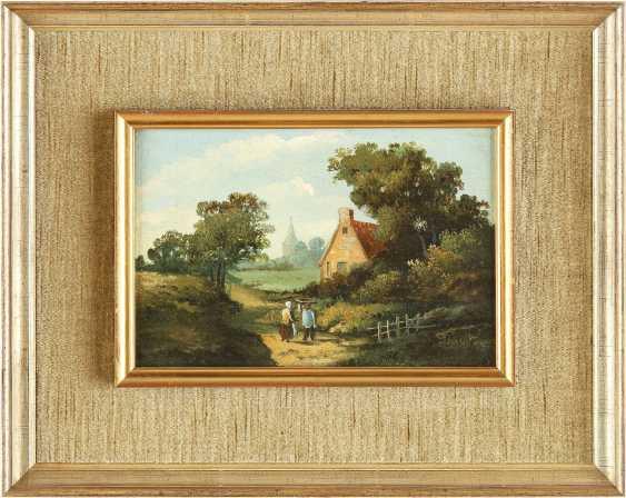 BARTHOLOMEUS JOHANNES VAN HOVE (NACHFOLGER) 1790 Den Haag - 1880 ebenda Zwei holländische Landschaften: Gehöft im Sommer (1); Idyllischer Bachlauf (2) - photo 3